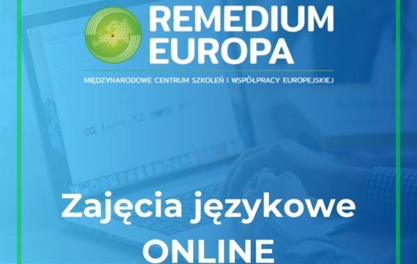 Specjalna oferta – Zajęcia online w Remedium Europa